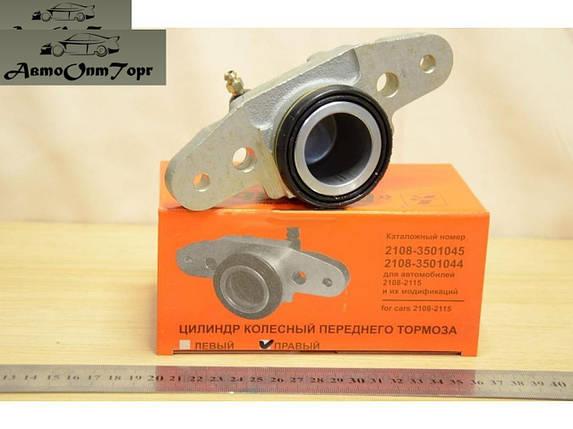 Передний тормозной цилиндр ВАЗ 2108, 2109, 21099, 2110, 2111, 2112, 2113, 2114, 2115, правый (ПТЦ) Х-4811СМ1, фото 2