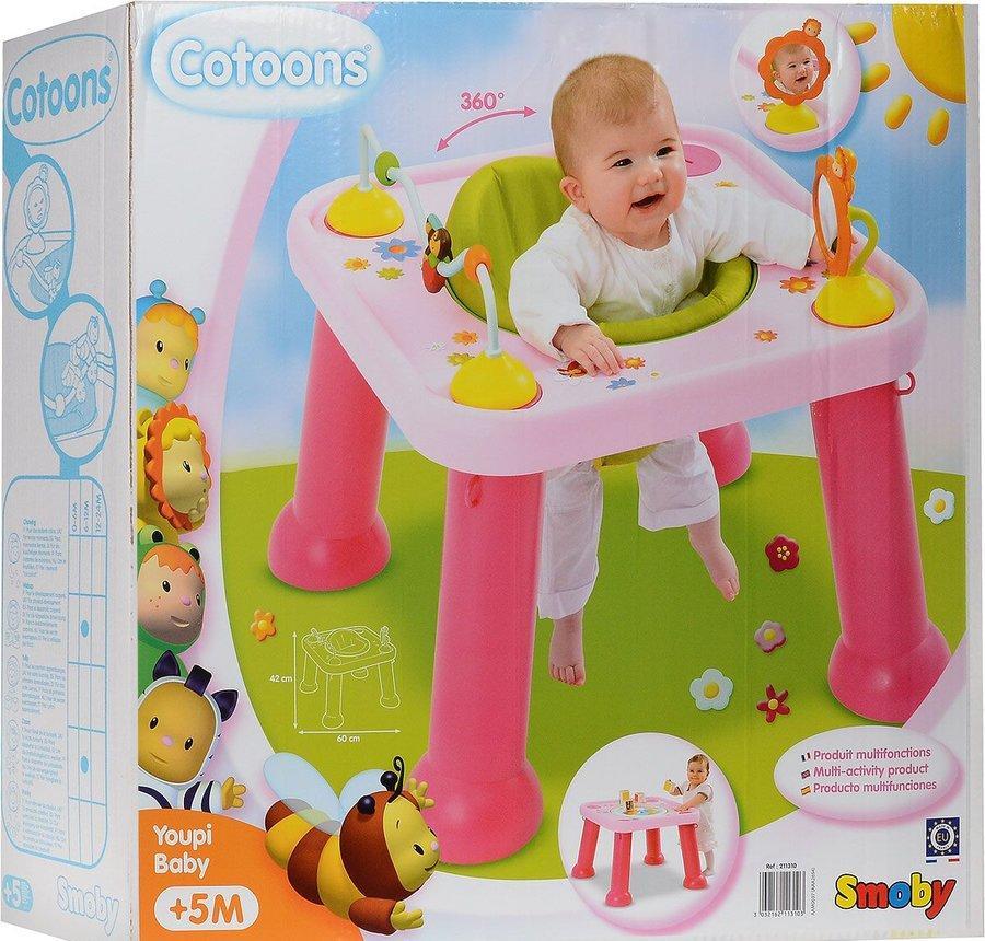 Развивающий игровой столик трансформер Cotoons Smoby 211310R