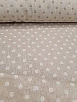 Льняная двухсторонняя декоративная ткань (шир. 166 см), фото 1