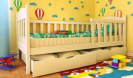 Дитяче дерев'яне ліжко Флавія Екстра з бортиком фабрики Woodland