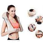 Роликовый массажёр Massager of neck kneading, для шеи и плеч, фото 4