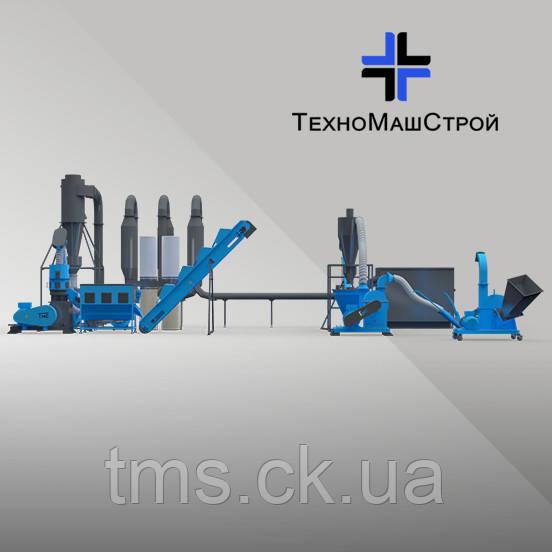 Мини завод по производству пеллет из древесных отходов