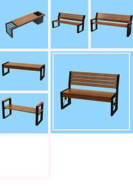 Скамейки, урны, товары для оборудования парковых зон