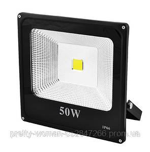 Прожектор SLIM YT-50W COB, 4500Lm, IP66 (влагозащита)