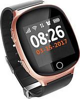 Умные смарт-часы с GPS и пульсометром Smart Watch S200-PLUS Розовое золото (hub_iWOB21363)