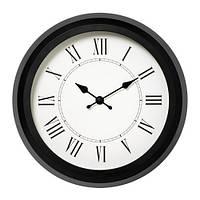 Часы настенные IKEA NUFFRA 25 см Черно-белый (903.578.68)