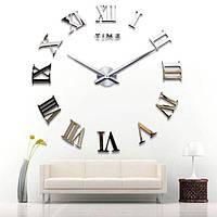 Настенные 3D часы 4309 Серебристые (16-4309-1), фото 1