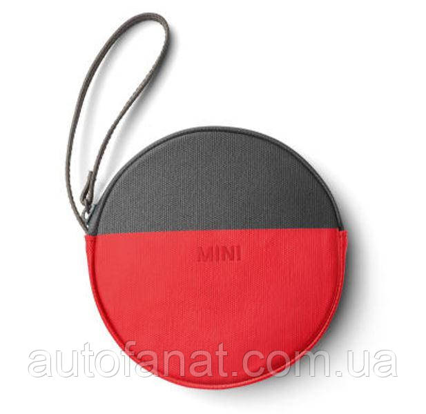 Оригинальный кошелек MINI Round Colour Block Pouch, Coral/Grey (80212460854)