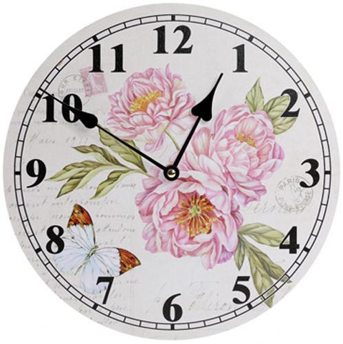 Часы настенные Ufficio Postale d 29 см Пионы (psg_BD-487-307-PB)