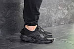 Мужские кроссовки Nike Air Huarache (черные) , фото 2