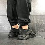 Мужские кроссовки Nike Air Huarache (черные) , фото 6