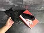 Мужские кроссовки Nike Air Huarache (черные) , фото 5