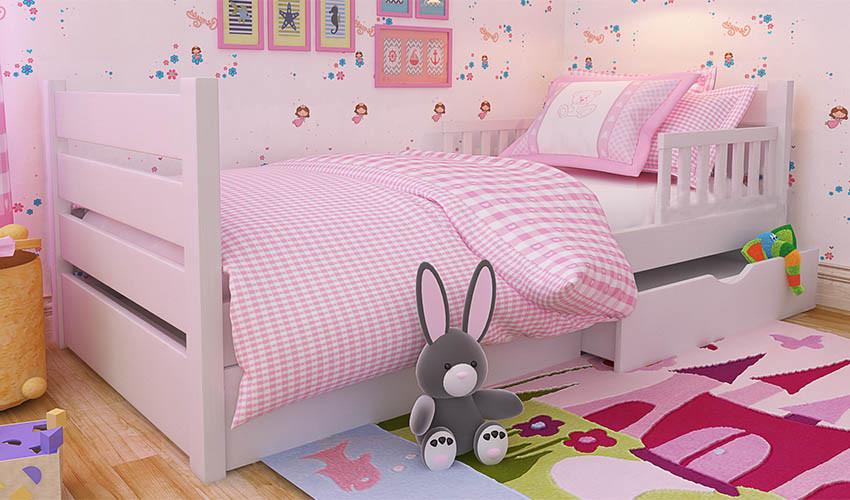 Детская деревянная кровать (из ольхи) Карина Люкс  (все размеры)