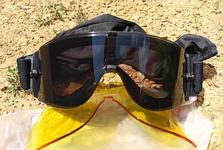 Очки-маска тактическая для страйкбола со сменными стёклами