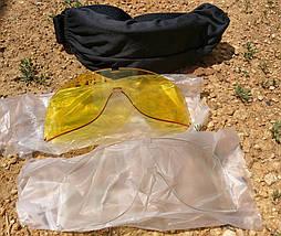 Очки-маска тактическая для страйкбола со сменными стёклами, фото 3