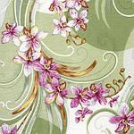 """Платок шелковый Павлопосадский (жаккард) """"Танцующие орхидеи"""" размер 84х84 см. рис.1444-4, фото 2"""