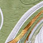 """Платок шелковый Павлопосадский (жаккард) """"Танцующие орхидеи"""" размер 84х84 см. рис.1444-4, фото 4"""
