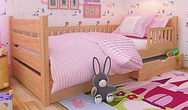 Дитяче дерев'яне ліжко Карина Екстра з бортиком