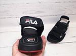 Мужские сандалии Fila (черные) , фото 2