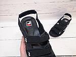 Мужские сандалии Fila (черные) , фото 5