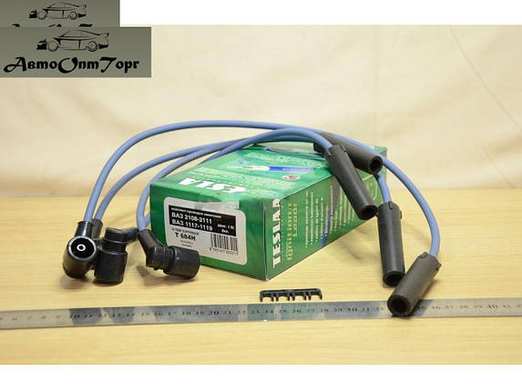 Провода зажигания  ВАЗ 2108, 2109, 21099-2110 инжектор, Т684-Н, Провода высоковольтные Tesla, Т684-Н; (комплект), фото 2