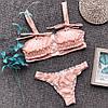 Купальник у пудровом кольорі розміри: З, М тканина: біфлекс з чашками (21272), фото 5