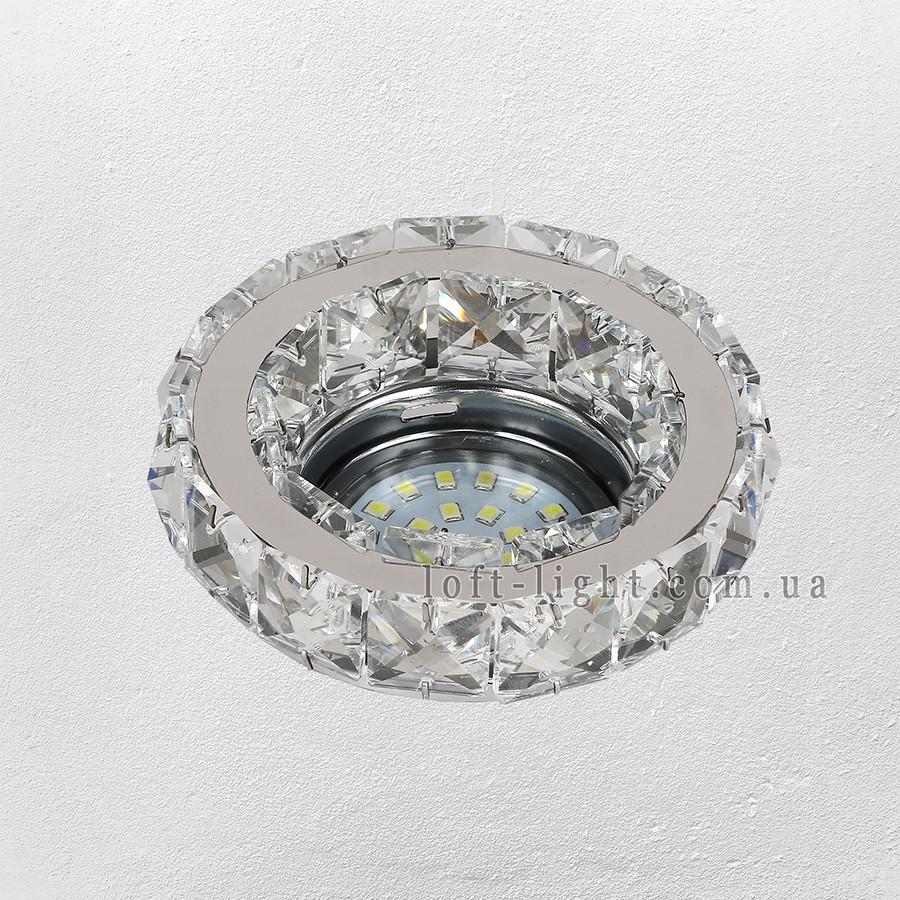 Точечный врезной светильник  16-MKD-C24Y CH
