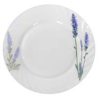 Набор круглых обеденных тарелок Stenson Лаванда 20.3 см 6 шт (MS-1729-1066)