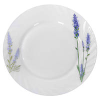 Набор круглых обеденных тарелок Stenson Лаванда 25.4 см 6 шт (MS-1733-1066)