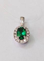 Підвіска золота з діамантами і смарагдом П120-0024