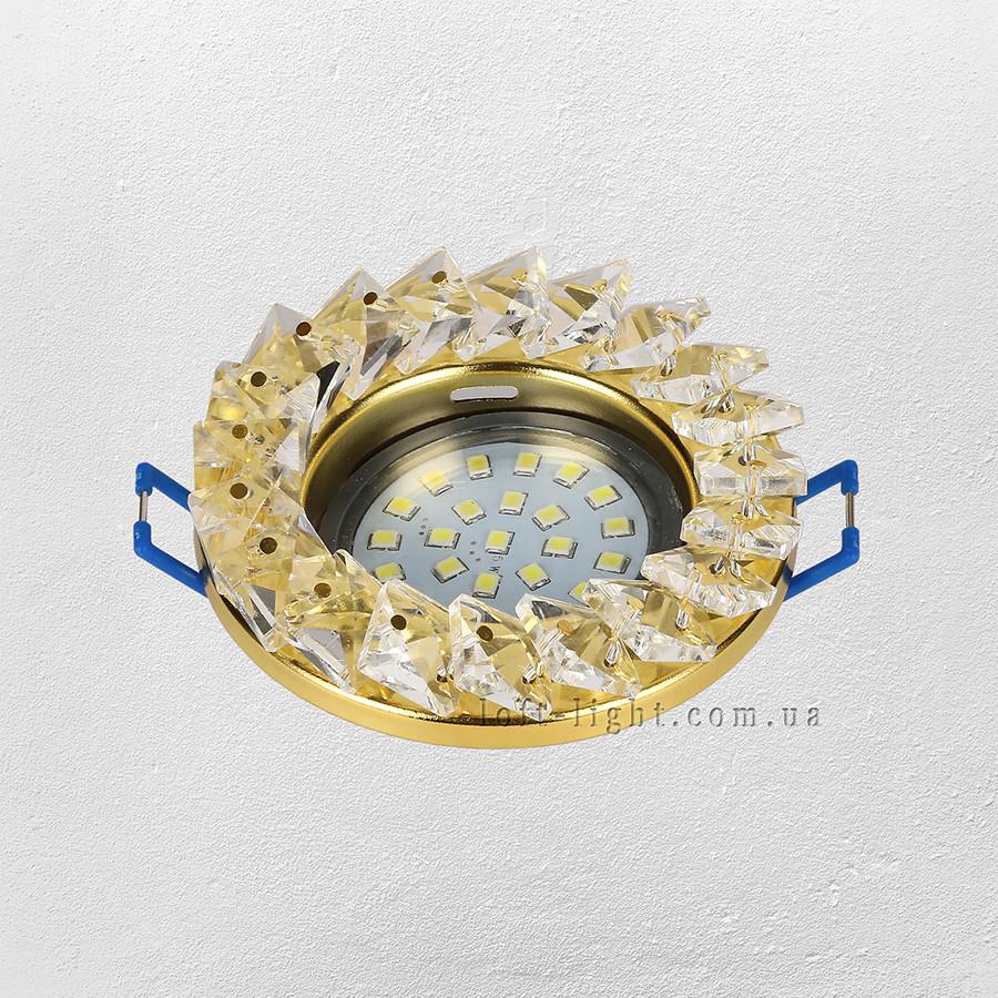 Точечный врезной светильник (модель  16-MKD-C25 GD  )