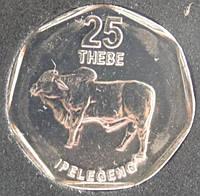 Монета Ботсвана 25 тхебе 2007 г.