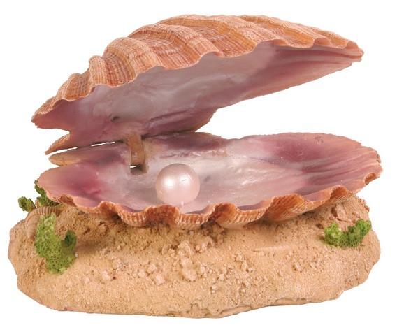Декорация для аквариума Trixie Ракушка с жемчужиной, 15 см