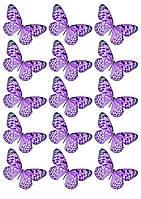 Съедобная печать на вафельной бумаге Бабочки (9)