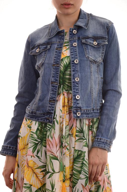 Стильные женские джинсовые куртки сток оптом Miss Bon Bon лот12шт по 18Є