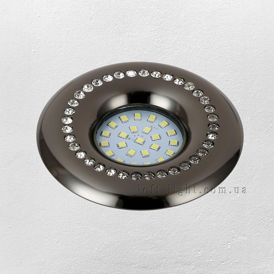 Точечный врезной светильник (модель 16-MKD-C26Y BK )