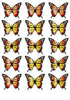 Съедобная печать на вафельной бумаге Бабочки (12)