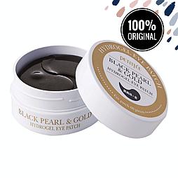 Гидрогелевые патчи для глаз с золотом и черным жемчугом PETITFEE Black Pearl & Gold Hydrogel Eye Patch, 60 шт