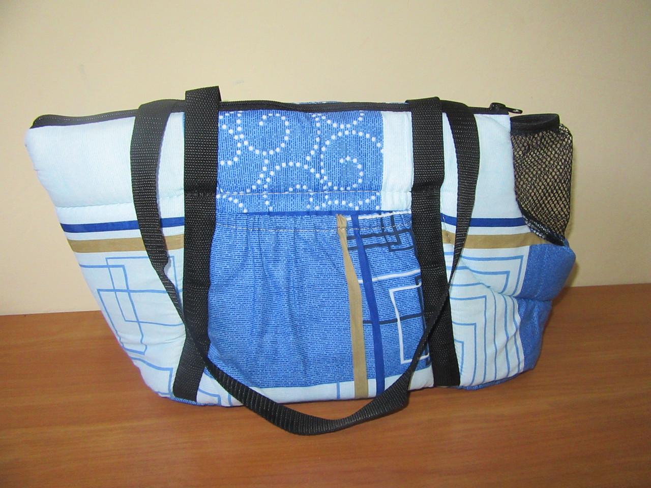 Сумка-переноска №1 Collar 39х20х25 синяя