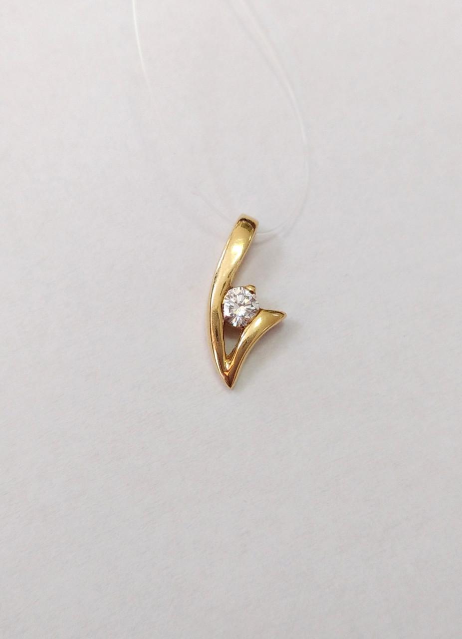 Подвеска золотая с бриллиантами