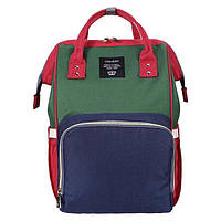 Рюкзак органайзер для мам Baby Baylor Green/Blue/Red (hub_btmQ69653)