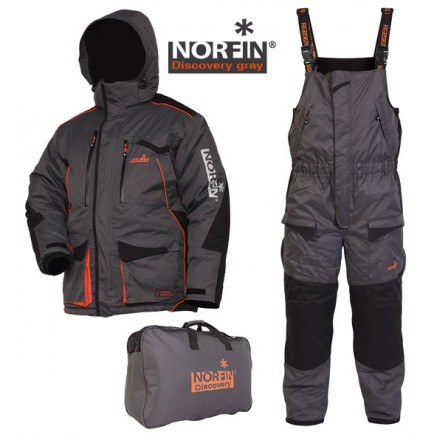 Зимний костюм для рыбалки Norfin DISCOVERY Gray (-35°) 45110