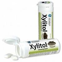 Miradent Жевательная резинка Xylitol Chewing Gum Green Tea (30 шт.)