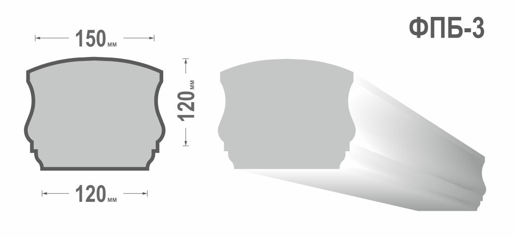 Перила балюстрады ФПБ-3