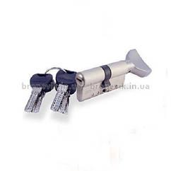 Цилиндр замка Apecs XD-80 (40х40)-C01-S сатин ключ/поворотник