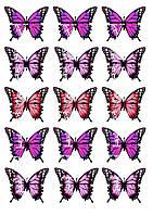 Съедобная печать на вафельной бумаге Бабочки (15)