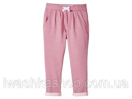 Рожеві трикотажні штани - джоггеры двунітка на дівчаток 2 - 4 роки, р. 98 - 104, Lupilu