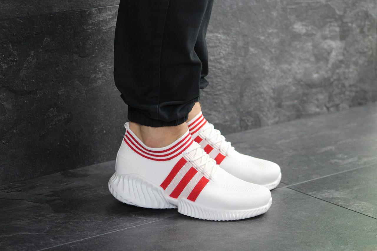 Белые кроссовки адидас вонекс повседневные спортивные текстильные Adidas Wonex White