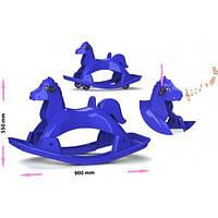Лошадка-качалка музыкальная (синяя) 05550/3