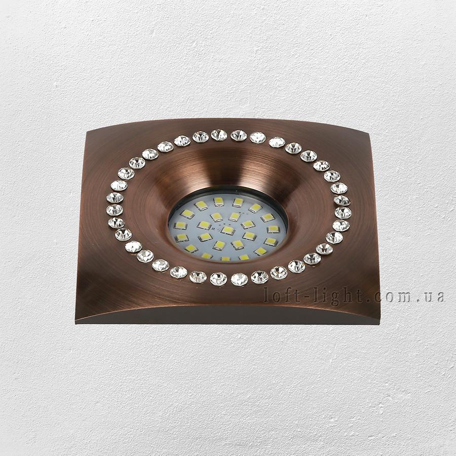 Точечный врезной светильник (модель 16-MKD-C26F GT  )